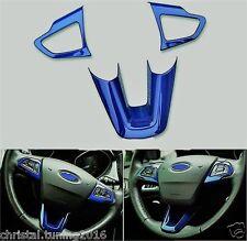 Ford Kuga, Focus MK 3b 2014 - 2017 Rahmen für 3 Speichen Lenkrad blau rot silber