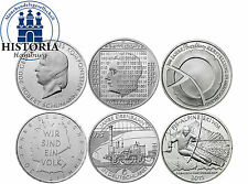 Alemania 6 x 10 euro monedas conmemorativas 2010 BFR completamente todos los serie 6 monedas de plata