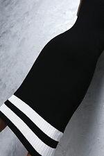 Neu 2017 Elegant Stretch Midi Dress F63 Fashion Damen Luxus Top Kleid Schwarz L
