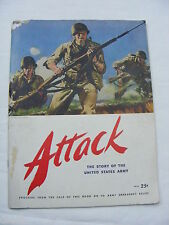 Vintage Attack Publication The Story of the US Army WWII Era