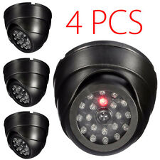 4 Pack Dummy Dome Security Camera Fake LED Flashing Blinking CCTV Surveillance