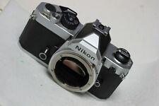 Nikon FM Silver Chrome 35mm SLR Film Camera Body  SUPERB # 2411059
