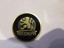 schild  Triumph Typenschild TWN 28 mm schwarz Messing s9