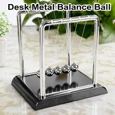 Newtons Cradle Steel Balance Pendulum Ball Home Decor Office Education Desk Toy