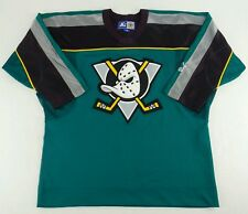 Vintage Starter NHL Anaheim Mighty Ducks Hockey Jersey Size Boys L/XL