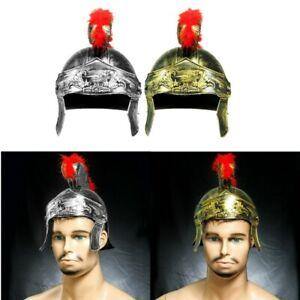 1x Helmet Medieval Armour King Roman Plastic Crested Samurai Hat Spartan Warrior