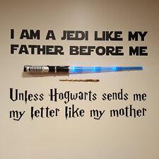 Wall Stickers Jedi like my Father Hogwarts sends me a vinyl decal decor Nursery
