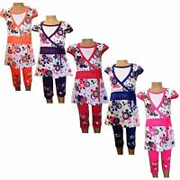 New Girls Tunic/Floral  Dress/Top&Leggings 2 Piece Set /Summer Outfit 2-8ys #200