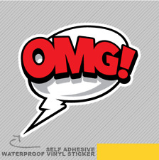 Comic OMG Cloud Cartoon Retro Stick Vinyl Sticker Decal Window Car Van Bike 2136
