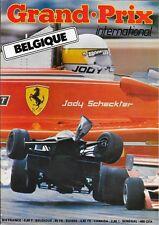 GRAND PRIX INTERNATIONAL numéro 6 . Belgique . Mai 1979 .