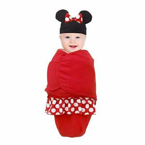 Minnie Mouse Secure-Me Blanket with Beanie- Small by Disney Baby