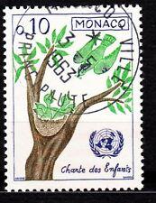 TIMBRE MONACO OBL N° 600  CHARTE DES ENFANTS  LA BECQUEE