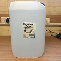DE-IONISED WATER 25 LITRE De Mineralised Deionised Distilled Pure 25L