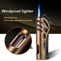 Windproof Cigar Cigarette Lighter Torch Jet singel Flame Refillable Metal