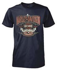 Harley-Davidson Men's Heirloom H-D Script Short Sleeve T-Shirt, Navy Blue (2XL)