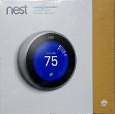 NEW Nest Learning Thermostat 3rd Generation Sealed T3007es Stainless Steel Wifi