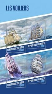 Niger - 2018 Tall Ships on Stamps - 4 Stamp Sheet - NIG18121a