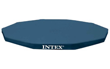 Intex 10-Foot Round Metal Frame Pool Cover Swimming Summer Ground 10ft Large New