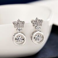 18K White Gold / Rose Gold Filled Lab Diamond Exquisite Crown Stud Earrings