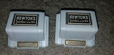 2 Vintage Newton's Jewelry ring Box Velvet Jewelry Display Plastic Vtg Art Deco