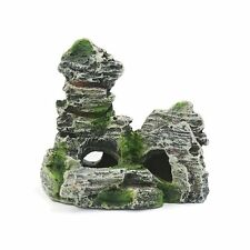 Aquarium Mountain Coral Reef Rock Cave Stone Moss Fish Tank Ornament Decoration