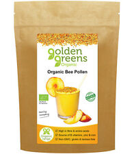 Golden Greens® Organic Raw Spanish Bee Pollen 500g - A Superfood with Passion™
