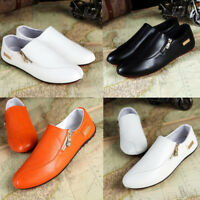 Men's casual Moccasin slip Peas Shoes Driving Leather shoes plus size