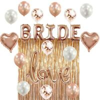 Bridal Shower & Bachelorette Party Decorations kit Rose Gold by ZAGGIE (22PCs)