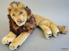 Steiff Leo Lion Lying Mohair Plush 22cm 9in 1960s no Id Vintage