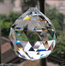 30mm Crystal Glass Ball Pendulum Lamp Prisms Pendants Rainbows  SS01