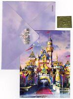 Disney Lot Three 50th Castle Notecards envelopes foil seals Disneyland 2005