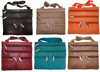 Genuine Leather Cross Body Strap Bag Satchel Messenger Purse Women's Handbag