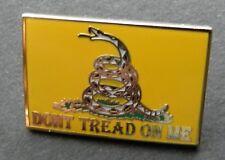 Don't Tread on Me 2nd Amendment Lapel Pin 1 inch