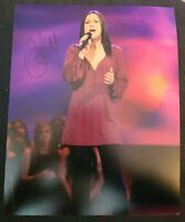 CARLY SMITHSON SIGNED 8X10 PHOTO AMERICAN IDOL D W/COA+PROOF RARE WOW