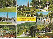 Freiburg City Garden Germany Postcard used VGC
