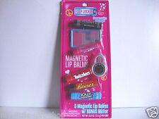 LOTTA LUV Lip Locker 5-PC Magnetic Lip Balms Hershey's+Reese's+Bubble & More NIP