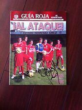 "Guia Roja ""Deportivo toluca"" Autografiada Por Hector Mancilla"