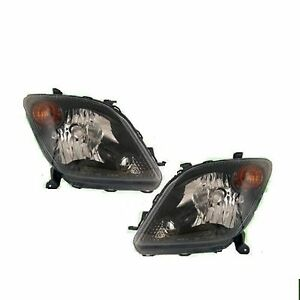 SCION XA X A 2004 2005 BLACK HEAD LIGHTS FRONT LAMPS PAIR SET NEW