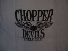 Chopper Devils Cycle Club Motorcycle Group Logo Dark Gray T Shirt 2XL
