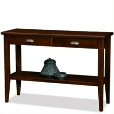 Leick Furniture Laurent Wood Rectangular Console Table in Chocolate Cherry