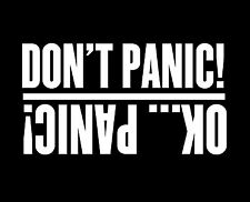 Don't Panic Funny Sticker Vinyl Decal JDM Ute Car 4x4 Gift Toyota Nissan 4WD D40