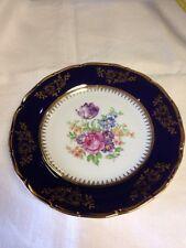 Czechoslovakia Carlsbad Cobalt EPIAG DF Fine Porcelain Cabinet Plate Excellent
