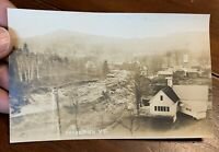 "RPPC Vermont 1927 Flood Real Photo Post Card ""Cavendish VT"""