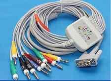 10 leads ECG EKG Cable For Philips HP M1770A M1771A  M1772A IEC Banana4.0
