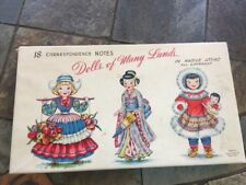 Vintage Different Dolls Of the World Original Box Set Complete of 18 Notecards