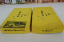 Vintage 1960's Suydam HO Scale No.87 Barn Kit & No.6 Red Lake Mine Kit In Boxes