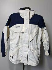 Columbia Titanium Womens Ski Snowboard Jacket White Navy Blue Size Large