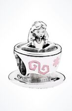 Authentic Pandora Bead Disney Parks Alice in Wonderland Teacup Fantasyland