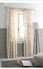 "THRESHOLD Semi-Sheer Wavy Lines Curtain Panel - Tan Khaki  54"" x 84"""