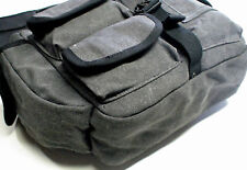 Fly Fishing Sling Guide Bag, Nice Size, Charcoal Cotton Canvas Clasic Style Bag
